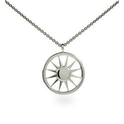 Tiffany Inspired Sterling Silver Sun Pendant