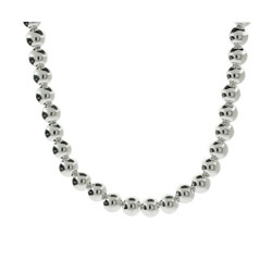 Tiffany Inspired 8mm Sterling Silver Bead Necklace