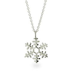Pretty Petite Sterling Silver Snowflake Necklace
