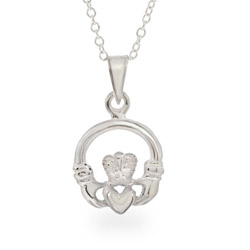 Small Sterling Silver Claddagh Pendant