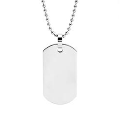 Large Stainless Steel Dog Tag Necklace