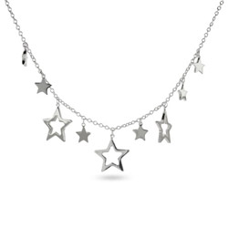 Tiffany Inspired Sterling Silver Star Charm Necklace