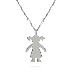 Sterling Silver Girl Pendant