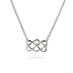 Tiffany Inspired Sterling Silver Celtic Knot Pendant