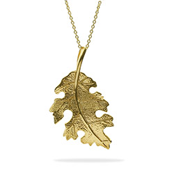 Hannah's Golden Nature Leaf Pendant