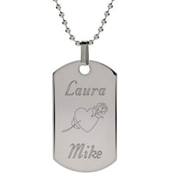 Personalized Stainless Steel Love Dog Tag