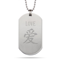 Personalized Stainless Steel Chinese Dog Tag