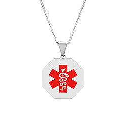 Engravable Stainless Steel Medical ID Pendant