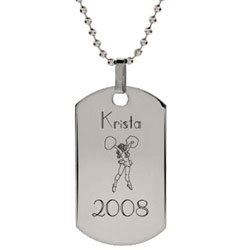 Engravable Cheerleader Necklace