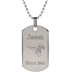 Stainless Steel Karate Dog Tag
