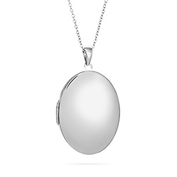 Large Oval Engravable Sterling Silver Locket