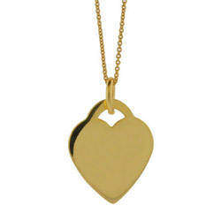 Tiffany Inspired Gold Vermeil Sterling Silver Heart Charm Pendant