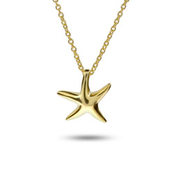 Tiffany Inspired Gold Vermeil Petite Starfish Necklace