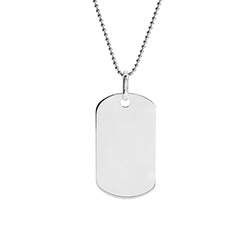 Large Stainless Steel Dog Tag