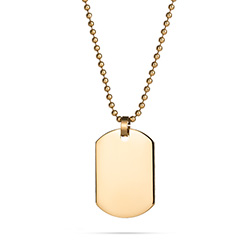 18K Gold Plated Small Stainless Steel Dog Tag