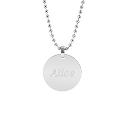 Small Stainless Steel Round Tag Pendant