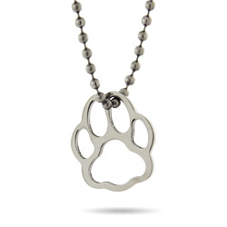 Stainless Steel Pawprint Pendant