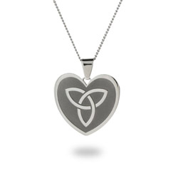 Engravable Celtic Knot Heart Pendant