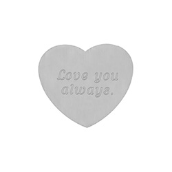 Engravable Secret Message Heart Insert