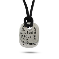 Engravable Inspirational Dog Tag Pendant