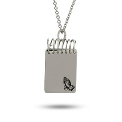 Engravable Serenity Prayer Notebook Pendant
