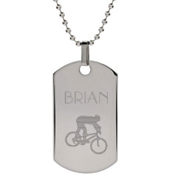 Engravable Stainless Steel Extreme Sports Dog Tag