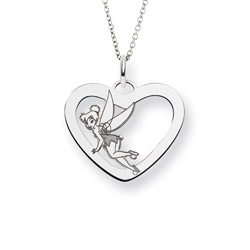 Sterling Silver Tinkerbell Pendant - Officially Licensed Disney Jewelry