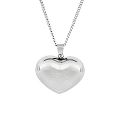 Engravable Puffed Heart Pendant