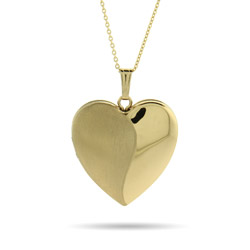 Engravable Gold Vermeil Brushed Heart Four Photo Locket