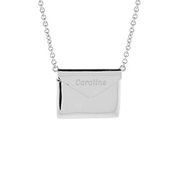 Engravable Sterling Silver Secret Message Envelope Locket