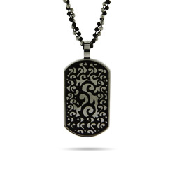 Renaissance Style Engravable Stainless Steel Dog Tag
