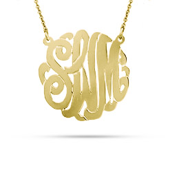 Gold Vermeil Small Custom Monogram Necklace