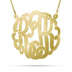 Gold Vermeil Large Custom Monogram Necklace