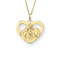 Gold Vermeil The Little Mermaid Ariel Pendant - Officially Licensed Disney Jewelry