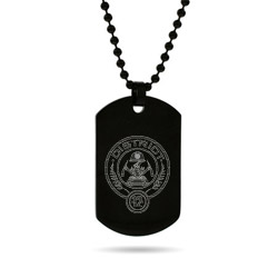 Hunger Games Inspired District 12 Engraved Black Dog Tag