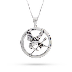 Hunger Games Inspired Sterling Silver Mockingjay Pendant