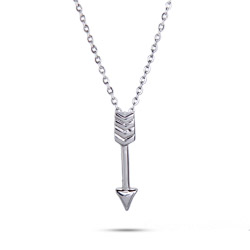 Hunger Games Inspired Sterling Silver Arrow Pendant