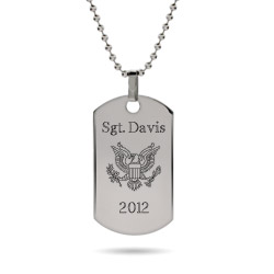 Engravable Custom Military Dog Tag