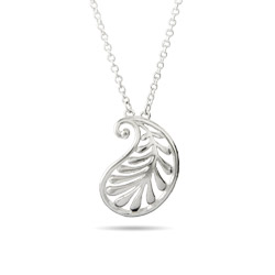 Tiffany Inspired Small Silver Palm Pendant