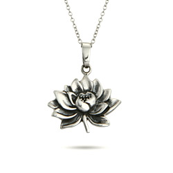 Sterling Silver Lotus Flower Pendant