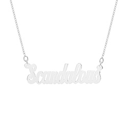 Sterling Silver Scandalous Nameplate Necklace