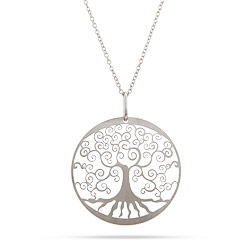 Sterling Silver Filigree Design Tree of Life Pendant
