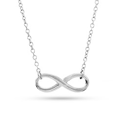 Tiffany Inspired Sterling Silver Infinity Symbol Necklace