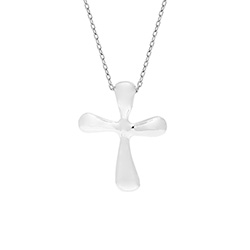 Tiffany Style Small Sterling Silver Cross Pendant
