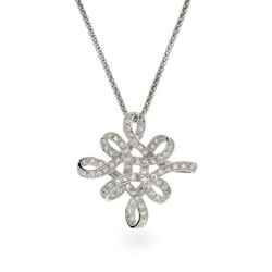 Intricate Woven Sterling Silver Snowflake Necklace