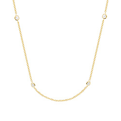 Sparkling CZs by the Yard Gold Vermeil Necklace