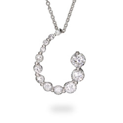 Curling CZ Sterling Silver Journey Necklace