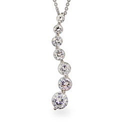 Sparkling Diamond CZ Journey Curve Pendant