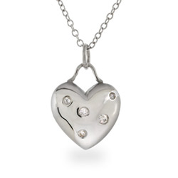 Tiffany Inspired Sterling Silver Etoile Heart Pendant