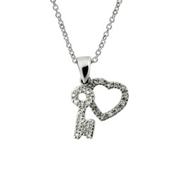 The Key To My Heart Charm Necklace